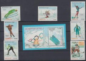 1990 Téli olimpia 1992, Albertville sor Mi 3008-3014 + blokk 192