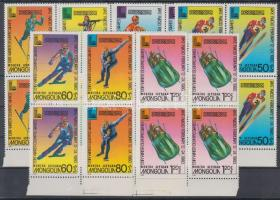 1980 Téli olimpia, Lake Placid sor Mi 1271-1277 ívszéli négyestömbökben