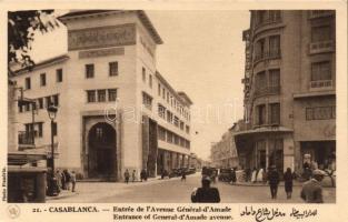 Casablanca, entrance of the General dAmade avenue