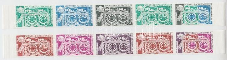 Centenary of UPU 10 diff. colour proof 100 éves az UPU 10 klf színpróba