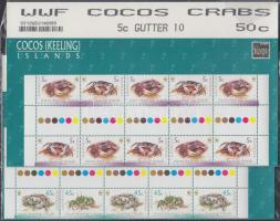 WWF Crabs sheetcentered block of 10 WWF Rákok ívközéprészes tízestömb