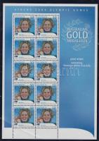 2004 Athéni nyári olimpia: Aranyérmesek kisív Mi 2341 (sarok gyűrődés)
