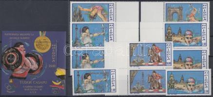1992 nyári olimpia, Barcelona ívszéli sor párokban Mi 26-30 + Bajnokok Mi 36-36 + blokk 2