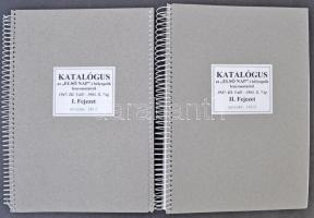 Katalógus az Első napi bélyegzők lenyomatairól 1947. III. 5-től - 1883.X.7-ig. 2 kötet, fűzve / FDC specialised handbook