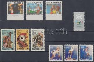 1976 Téli és nyári olimpia sorok Mi 617-623, 630-632