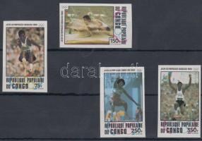 1980 Moszkvai nyári olimpia vágott sor Mi 726-729 imperforate