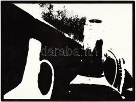 cca 1970-1980 Ismeretlen szerző: Fotografikus csendélet, 18x24 cm.