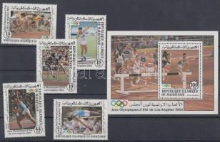 1984 Los Angeles-i olimpia sor Mi 821-825 + blokk 58
