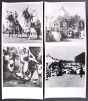 cca 1930-1940 Nigéria, sajtófotók egy muszlim ünnepről, hátoldalán feliratozva, 6 db 19x19 cm-es fénykép.