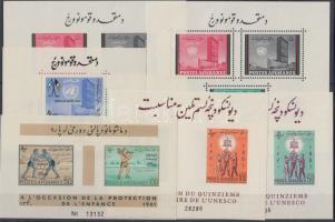 1961-1962 Nemzetközi szervezetek 6 klf blokk Mi 10 + 17 A-B + 20-21 + 34