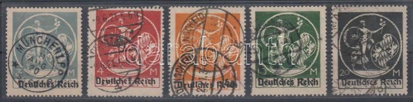 1920/1921 Forgalmi záróértékek Mi 134 I-138 I