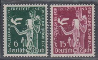 1936 Szabadidő világkongresszus sor Mi 622-623
