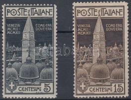 1912 Szent Márk harang torony felavatása Mi 105-106 (gumi hiba)