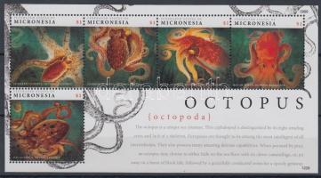 2012 Polipok 5 bélyeget tartalmazó kisív