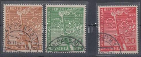 1952 Olimpiai ünnepség sor Mi 88-90