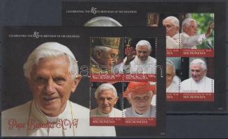 2012 XVI Benedek pápa 85. születésnapja blokkpár