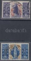 1945/47 Sienai Szent Katalin légiposta értékek Mi 744-745