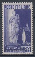 1951 10. Nemzetközi Textil Kiállítás, Torinó Mi 832