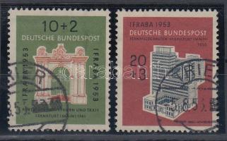 1953 Nemzetközi bélyegkiállítás sor Mi 171-172