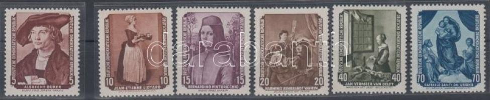 1955 Festmények sor Mi 504-509