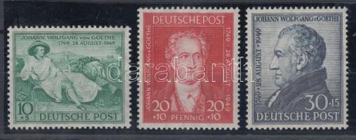 1949 Goethe sor Mi 108-110