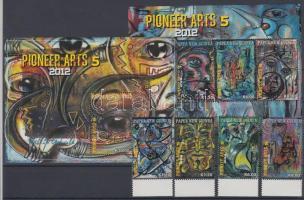 2012 A modern művészet úttörői, festmények ívszéli sor Mi 1766-1769 + kisív Mi 1770-1773 + blokk Mi 149