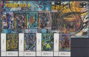 2012 A modern művészet úttörői, festmények ívsarki sor Mi 1766-1769 + kisív Mi 1770-1773 + blokk Mi 149