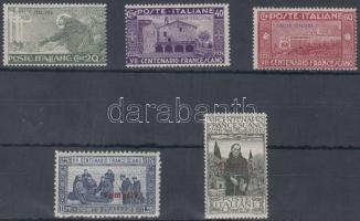 1926 Assisi Szent Ferenc sor Mi 82-86