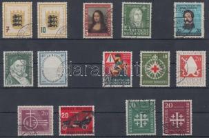 1949-1956 14 db bélyeg, közte sorokkal