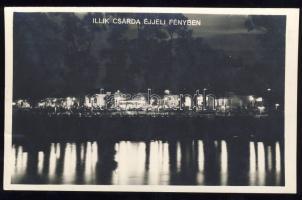 Budapest IV. Népsziget Illik csárda éjjel