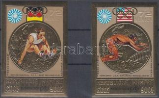 1973 Olimpiai aranyérmesek aranyfóliás vágott sor Mi 368 B-369 B