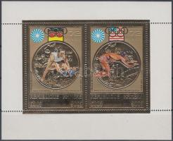 1973 Olimpiai aranyérmesek aranyfóliás blokk Mi 31 A