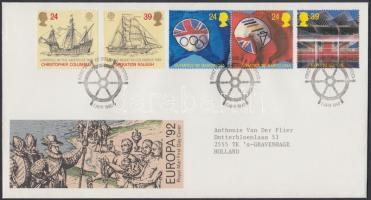 1992 Europa CEPT + Olimpia Mi 1400-1404 1 db FDC-n