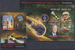 Friendship-7 Űrutazás kisív + blokk Friendship-7 Space Travel mini sheet + block