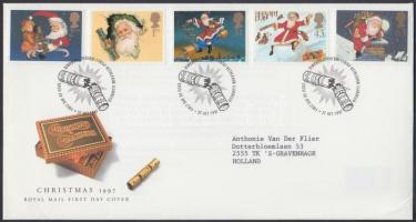 1997 Karácsony Mi 1714-1718 IA FDC