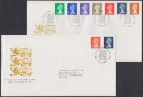 1989-1990 II. Erzsébet fejes bélyegek 4 klf sor 4 FDC-n