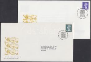 1993-1995 II. Erzsébet fejes bélyegek 3 klf önálló érték + 1 sor 4 FDC-n