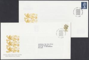 1997 +1999-2000 II. Erzsébet fejes bélyegek 4 klf bélyeg 3 FDC-n