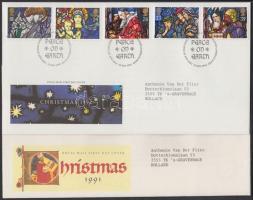 1989-1992 Karácsony 4 klf sor 4 klf FDC-n