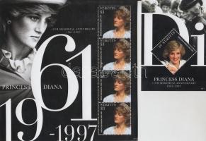 2012 Diana hercegnő halálának 15. évfordulója kisív + blokk