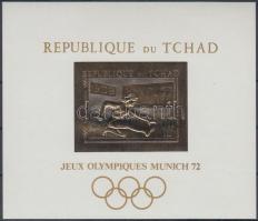 1970 Müncheni nyári olimpia aranyfóliás blokk Mi 12