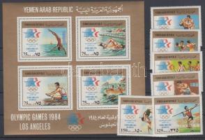 1984 Nyári Olimpia, Los Angeles sor Mi 1807-1812 + blokk A239