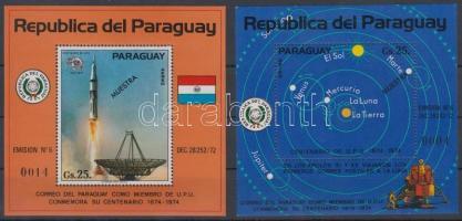1974 100 éves az UPU blokk pár Mi 219-220 MINTA
