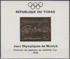 1971 Müncheni nyári olimpia aranyfóliás blokk Mi 25