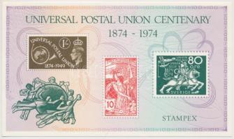 1974 Stampex, 100 éves az UPU emlékív