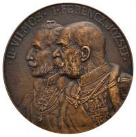 "Osztrák-Magyar Monarchia / Neuberger Rudolf (1861-1916) 1915. ""II. Vilmos - Ferencz József / Limanowai csata"" Br emlékérem (50mm) Austro-Hungarian Monarchy 1915. ""Wilhelm II - Franz Joseph / Battle of Limanowa"" commemorative Br medallion. Sign: Rudolf Neuberger (50mm)"