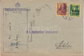 1945 (3. díjszabás) Nyomtatvány Kisegítő 40f/24f + 1,6P/12f bérmentesítéssel