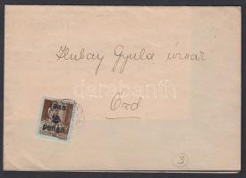 1945 (3. díjszabás) Nyomtatvány (gyászjelentés) Kisegítő 2P/4f bérmentesítéssel