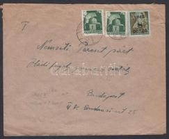 1945 (3. díjszabás) Távolsági levél Hadvezérek 2x 1P + Kisegítő 8P/20f bérmentesítéssel