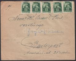 1945 (3. díjszabás) Távolsági levél 10x Hadvezérek 1P bérmentesítéssel